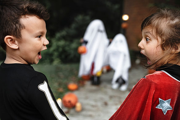kids scared of ghosts on halloween