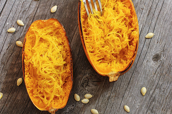 baked spaghetti squash in shell