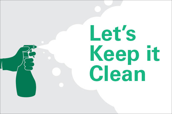 lets keep it clean graphic