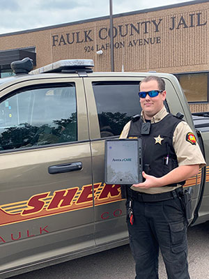 Faulk Co Deputy Plooster with his New VCC iPad