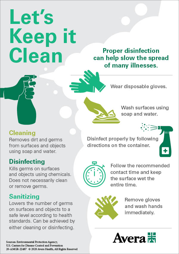 5 tips to clean and disinfect house infographic